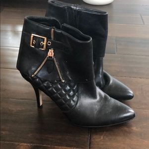 Red sams fifth avenue leather booties